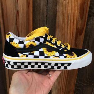 Vans Customs Sunflower Shoes